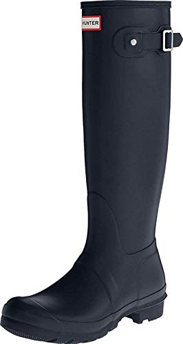 Hunter Original Tall, Botas Unisex, Azul (Navy), 35.5 EU