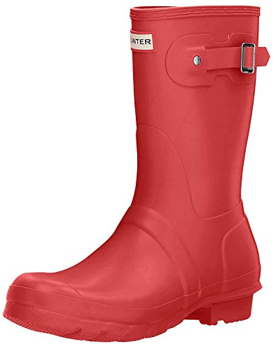 Hunter Original Short - Botas para mujeres, color rojo (military red), talla 37 EU (4 UK)