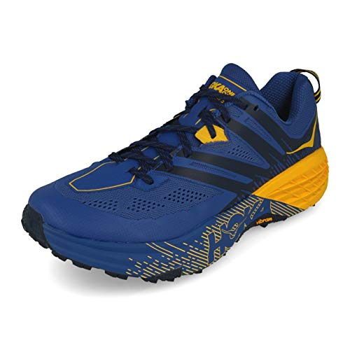 HOKA ONE One Speedgoat 3 Deportivas Hombres Azul/Oro - 44 - Running/Trail