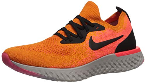 Nike Wmns Epic React Flyknit, Zapatillas de Running para Mujer, Multicolor (Copper Black/Flash Crimson 800), 39 EU