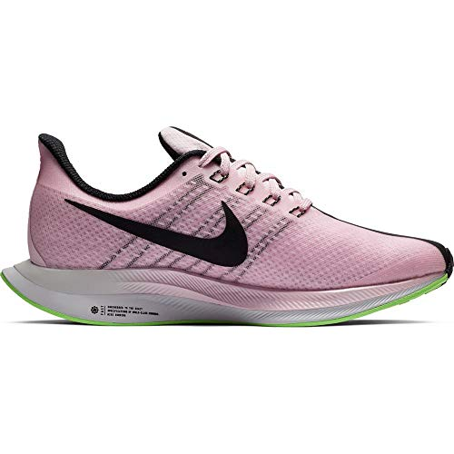 Nike W Zoom Pegasus 35 Turbo, Zapatillas de Atletismo para Mujer, Multicolor (Pink Foam/Black/Lime Blast/Vast Grey 601), 39 EU