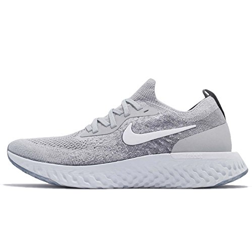 Nike Epic React Flyknit (GS), Zapatillas de Running para Niños, Multicolor (Wolf White-Cool Grey-Pure Platinum 002), 36.5 EU