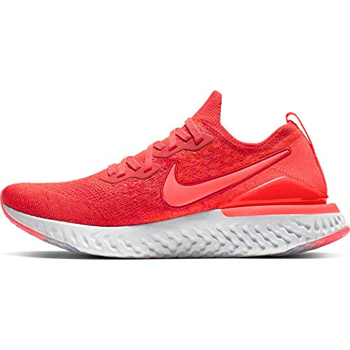 Nike Epic React Flyknit 2, Zapatillas de Atletismo para Hombre, Multicolor (Chile Red/Bright Crimson/Vast Grey/Black 000), 45 EU