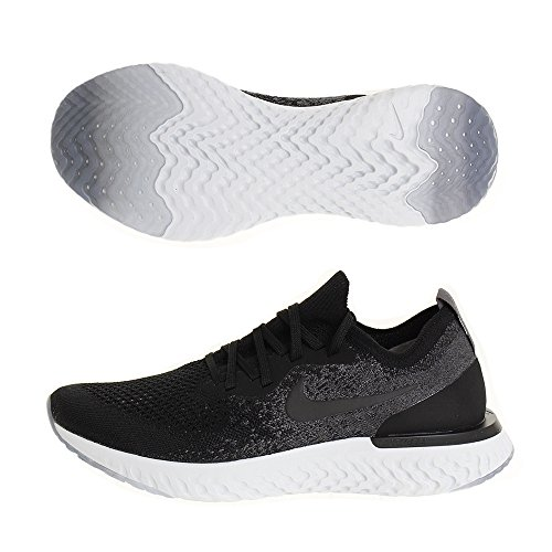 Nike Epic React Flyknit, Zapatillas para Hombre, Multicolor Black/Dark Grey/Pure Platinum 001, 43 EU