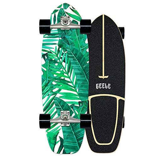Surfskate Skateboard Carving Drop-Through Freeride Skate Cruiser Boards, Completo arce tablero 78×24cm, Rodamientos de Bolas ABEC Alta velicidad, 7 capas...